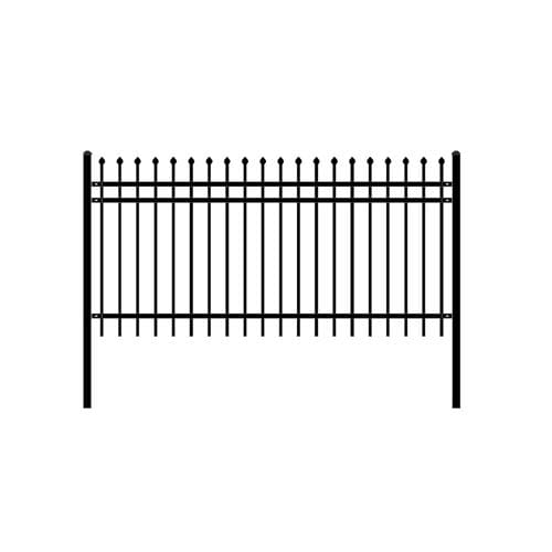 ALEKO Gates and Fences ALEKO Products DIY Steel Iron Wrought High Quality Ornamental Fence - Rome Style - 8 x 4 Feet FENCEROME8X4-AP