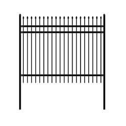 ALEKO Gates and Fences ALEKO Products DIY Steel Iron Wrought High Quality Ornamental Fence - Rome Style - 8 x 6 Feet FENCEROME8X6-AP