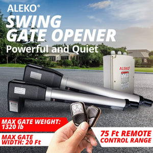 ALEKO Gates and Fences ALEKO Products Dual Swing Gate Operator - AS1200 AC/DC - Accessory Kit ACC4 AS1200ACC-AP AS1200ACC-AP