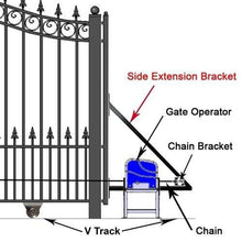 Load image into Gallery viewer, ALEKO Gates and Fences ALEKO Products Side Frame Extension Bracket SIDEEXT-AP SIDEEXT-AP