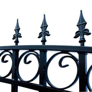 ALEKO Gates and Fences ALEKO Products Steel Dual Swing Driveway Gate - LONDON Style - 18 x 6 Feet