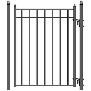 ALEKO Gates and Fences ALEKO Products Steel Pedestrian Gate - MADRID Style - 5 ft PGMAD-AP