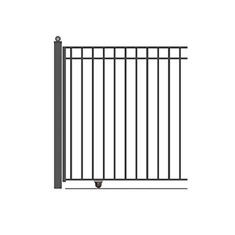 Image of ALEKO Gates and Fences Black ALEKO Products Single Slide Steel Driveway Gate - MADRID Style - 12 x 6 Feet DG12MADSSL-AP