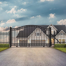 Load image into Gallery viewer, ALEKO Gates and Fences Black ALEKO Products Slide Steel Driveway Gate - DUBLIN Style - 16 x 6 Feet DG16DUBSSL-AP