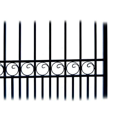 ALEKO Gates and Fences Black ALEKO Products Steel Dual Swing Driveway Gate - MOSCOW Style - 16 x 6 Feet DG16MOSD-AP