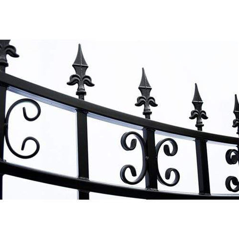 Image of ALEKO Gates and Fences Black ALEKO Products Steel Dual Swing Driveway Gate - ST.PETERSBURG Style - 18 x 6 Feet DG18STPD-AP