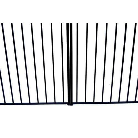 ALEKO Gates and Fences Black ALEKO Products Steel Dual Swing Driveway Gate - STOCKHOLM Style - 16 x 6 Feet DG16STOD-AP