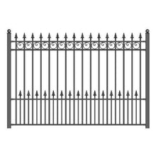Load image into Gallery viewer, ALEKO Gates and Fences Black ALEKO Products Steel Fence - PRAGUE Style - 8 x 5 Ft FENCEPRA-AP