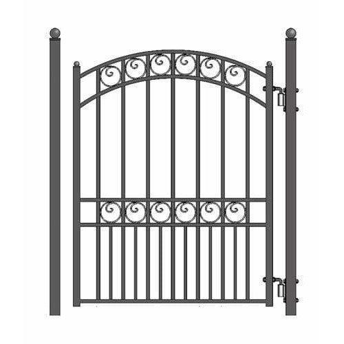 ALEKO Gates and Fences Black ALEKO Products Steel Pedestrian Gate - PARIS Style - 5 ft PGPAR-AP