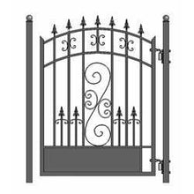 Load image into Gallery viewer, ALEKO Gates and Fences Black ALEKO Products Steel Pedestrian Gate - VENICE Style - 5 ft PGVEN-AP