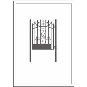 ALEKO Gates and Fences Black ALEKO Products Steel Pedestrian Gate - VENICE Style - 5 ft PGVEN-AP