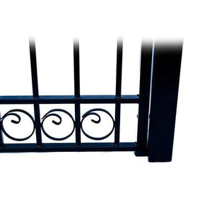ALEKO Gates and Fences Black ALEKO Products Steel Single Swing Driveway Gate - DUBLIN Style - 14 x 6 Feet DG14DUBSSW-AP