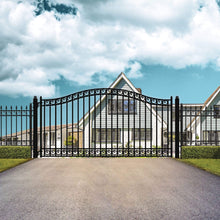 Load image into Gallery viewer, ALEKO Gates and Fences Black ALEKO Products Steel Single Swing Driveway Gate - DUBLIN Style - 18 x 6 Feet DG18DUBSSW-AP