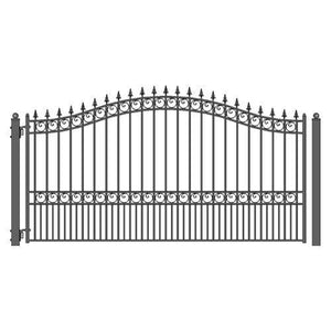 ALEKO Gates and Fences Black ALEKO Products Steel Single Swing Driveway Gate - LONDON Style - 12 x 6 Feet DG12LONSSW-AP