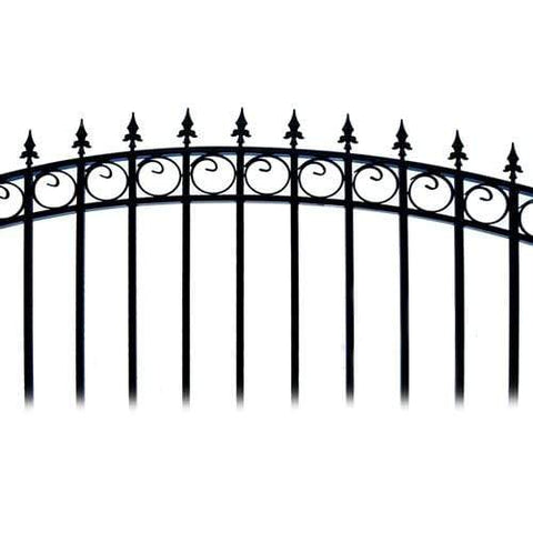 Image of ALEKO Gates and Fences Black ALEKO Products Steel Single Swing Driveway Gate - LONDON Style - 14 x 6 Feet DG14LONSSW-AP