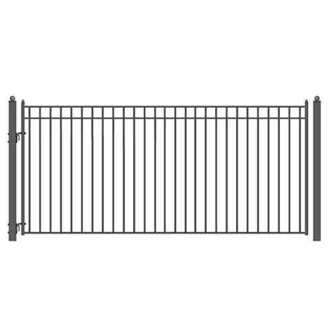 Image of ALEKO Gates and Fences Black ALEKO Products Steel Single Swing Driveway Gate - MADRID Style - 14 x 6 Feet DG14MADSSW-AP