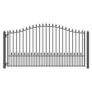 ALEKO Gates and Fences Black ALEKO Products Steel Single Swing Driveway Gate - MUNICH Style - 12 x 6 Feet DG12MUNSSW-AP