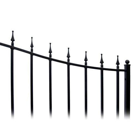 Image of ALEKO Gates and Fences Black ALEKO Products Steel Single Swing Driveway Gate - MUNICH Style - 14 x 6 Feet DG14MUNSSW-AP