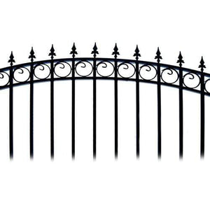 ALEKO Gates and Fences Black ALEKO Products Steel Single Swing Driveway Gate - PRAGUE Style - 14 x 6 Feet DG14PRASSW-AP