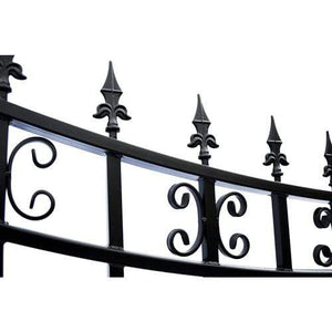 ALEKO Gates and Fences Black ALEKO Products Steel Single Swing Driveway Gate - ST.PETERSBURG Style - 12 x 6 Feet DG12SPTSSW-AP