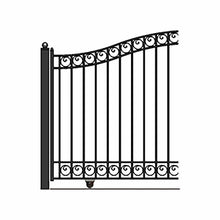 Load image into Gallery viewer, ALEKO Gates and Fences Black ALEKO Products Steel Sliding Driveway Gate - DUBLIN Style - 12 x 6 Feet DG12DUBSSL-AP