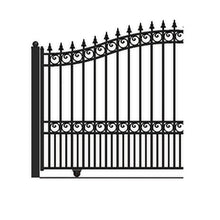 Load image into Gallery viewer, ALEKO Gates and Fences Black ALEKO Products Steel Sliding Driveway Gate - LONDON Style - 12 x 6 Feet DG12LONSSL-AP