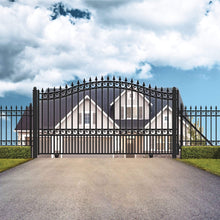 Load image into Gallery viewer, ALEKO Gates and Fences Black ALEKO Products Steel Sliding Driveway Gate - LONDON Style - 18 x 6 Feet DG18LONSSL-AP