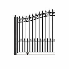 Load image into Gallery viewer, ALEKO Gates and Fences Black ALEKO Products Steel Sliding Driveway Gate - PRAGUE Style - 12 x 6 Feet DG12PRASSL-AP