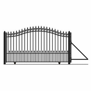 ALEKO Gates and Fences Black ALEKO Products Steel Sliding Driveway Gate - PRAGUE Style - 12 x 6 Feet DG12PRASSL-AP
