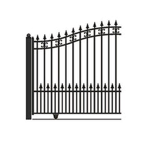 Load image into Gallery viewer, ALEKO Gates and Fences Black ALEKO Products Steel Sliding Driveway Gate - ST.PETERSBURG Style - 18 x 6 Feet DG18SPTSSL-AP
