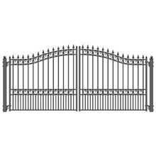 Load image into Gallery viewer, ALEKO Gates Black ALEKO Products Steel Dual Swing Driveway Gate - LONDON Style - 14 x 6 Feet DG14LOND-AP