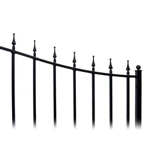 ALEKO Gates Black ALEKO Products Steel Dual Swing Driveway Gate - MUNICH Style - 16 x 6 Feet DG16MUND-AP