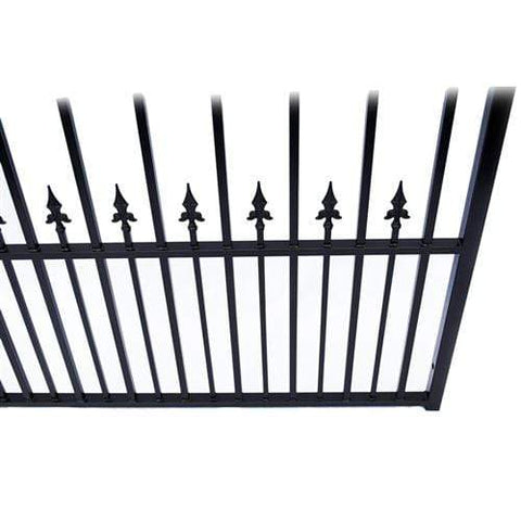 Image of ALEKO Gates Black ALEKO Products Steel Dual Swing Driveway Gate - MUNICH Style - 16 x 6 Feet DG16MUND-AP