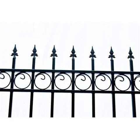 ALEKO Gates Black ALEKO Products Steel Dual Swing Driveway Gate - OSLO Style - 16 x 6 Feet DG16OSLD-AP