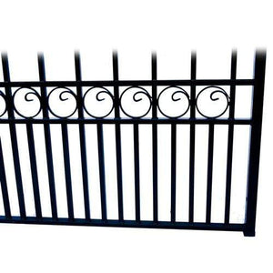 ALEKO Gates Black Steel Dual Swing Driveway Gate - PARIS Style - 16 x 6 Feet DG16PARD-AP