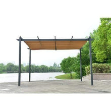 Load image into Gallery viewer, ALEKO Outdoor ALEKO Products Aluminum Outdoor Retractable Canopy Pergola - 13 x 10 Ft - Sand Color PERGSAND10X13-AP PERGSAND10X13-AP