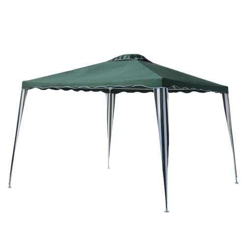 ALEKO Outdoor ALEKO Products Iron Foldable Gazebo Canopy - 10X10 Feet - Green GAZ10X10G-AP GAZ10X10G-AP