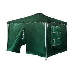 ALEKO Outdoor ALEKO Products Iron Foldable Gazebo Canopy - 4 Sidewalls - Oxford Fabric - 10X10 Feet - Green GAZWSW10X10G-AP GAZWSW10X10G-AP