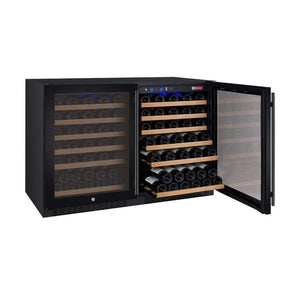 "Allavino Wine Refrigerators Allavino Products 47"" Wide FlexCount Series 112 Bottle Dual Zone Black Side-by-Side Wine Coolers 2X-VSWR56-1BWT 2X-VSWR56-1BWT"