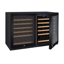 "Load image into Gallery viewer, Allavino Wine Refrigerators Allavino Products 47"" Wide FlexCount Series 112 Bottle Dual Zone Black Side-by-Side Wine Coolers 2X-VSWR56-1BWT 2X-VSWR56-1BWT"