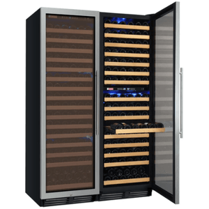 "Garage Reserve Allavino Products 48"" Wide FlexCount Classic 346 Bottle Three Zone Stainless Steel Side-by-Side Wine Refrigerator 3Z-YHWR7274-SW 3Z-YHWR7274-SW"