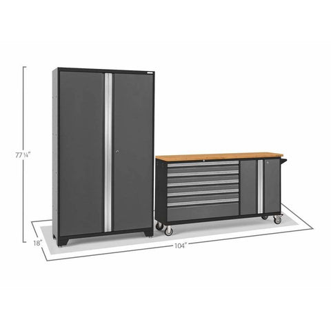Image of Garage Reserve NewAge Products BOLD SERIES 3.0 2 Piece Cabinet Set 50687