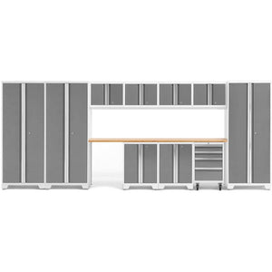 Garage Reserve Platinum / Bamboo NewAge Products BOLD SERIES 3.0 12 Piece Cabinet Set 50414 56985