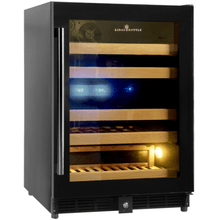 Load image into Gallery viewer, Kings Bottle Wine Coolers KINGS BOTTLE Products 46 Bottles 24 Inch Under Counter Dual Zone Wine Cooler Drinks KBU50DX-SS RHH