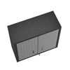 "Image of Manhattan Comfort Garage Cabinets Fortress Manhattan Comfort Fortress 30"" Floating Textured Metal Garage Cabinet with Adjustable Shelves in Grey 5GMC 5GMC"