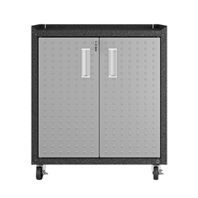 "Load image into Gallery viewer, Manhattan Comfort Garage Cabinets Fortress Manhattan Comfort Fortress Textured Metal 31.5"" Garage Mobile Cabinet with 2 Adjustable Shelves in Grey 3GMCC 3GMCC"