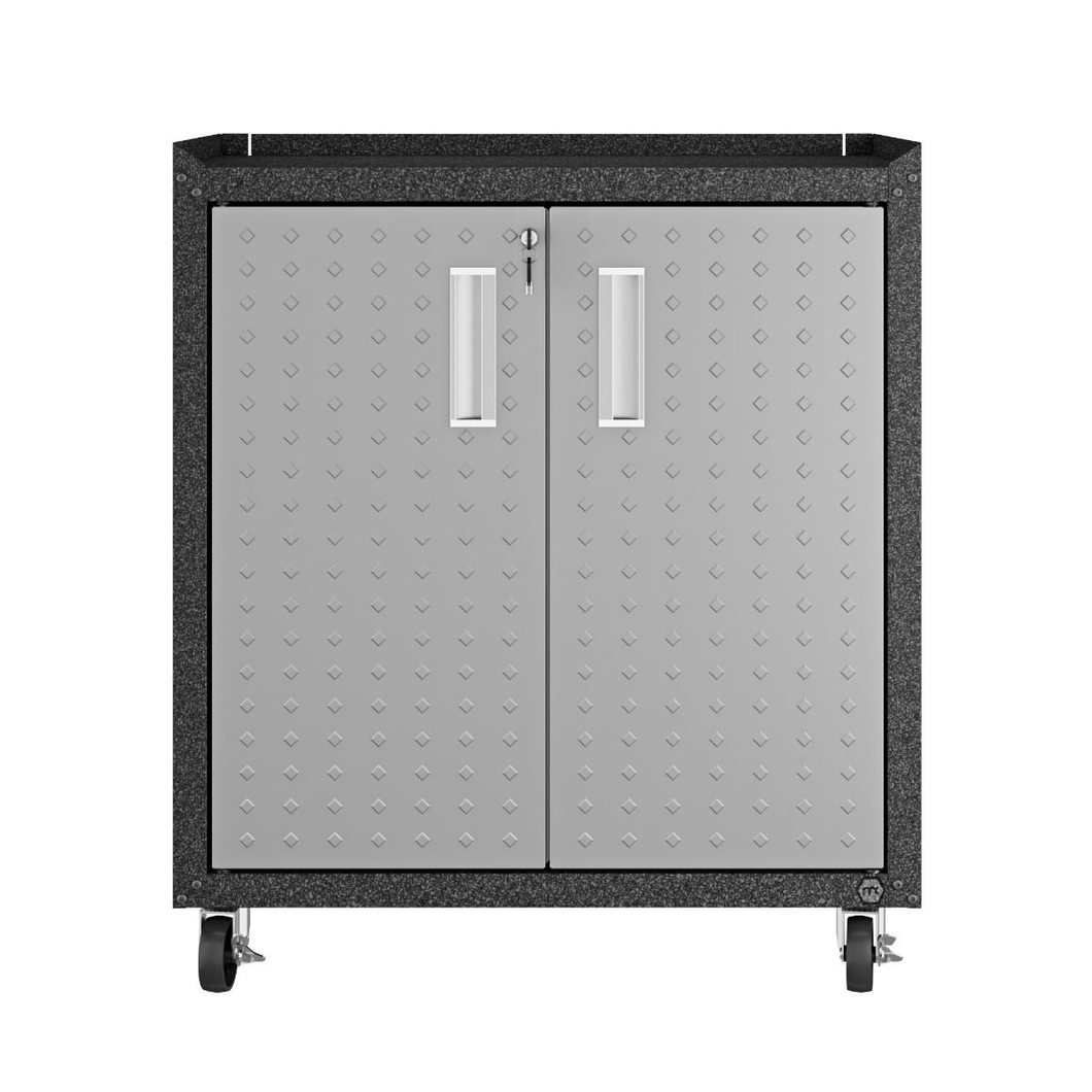 Manhattan Comfort Garage Cabinets Fortress Manhattan Comfort Fortress Textured Metal 31.5
