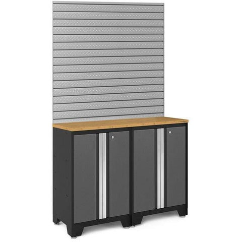 NewAge Products Garage Cabinets Bamboo NewAge Products BOLD SERIES 3.0 Gray 3 Piece Cabinet Set 50663 50663