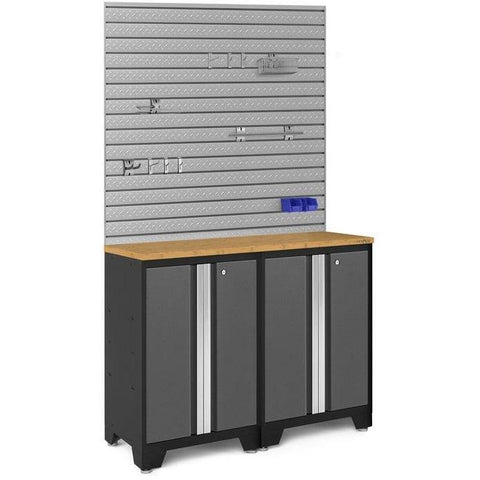 NewAge Products Garage Cabinets Bamboo NewAge Products BOLD SERIES 3.0 Gray 3 Piece Cabinet Set 50664 50664