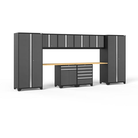 NewAge Products Garage Cabinets Bamboo NewAge Products PRO SERIES 3.0 Gray 10 Piece Cabinet Set 52098 52098